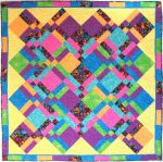 """Rainbow Kisses"" Lap Quilt"